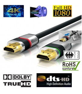 4K HDMI-Kabel , ULTRA-LOCK-SYSTEM™ 5m