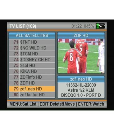 Satfinder 5HD  DVB-S/S2S mit NIT und KU/KA/C-BAND Funktion Profi Messgerät