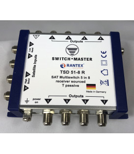 Switch Master 1 Sat - 8 Teilnehmer Multischalter 5/8 HDTV Made in Germany