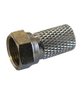 F-Stecker, breite Mutter, Kabel-Ø: 8,2 mm