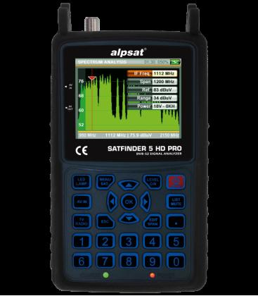 ALPSAT Satfinder 5HD PRO  DVB-S/S2 mit NIT und KU/KA/C-BAND Funktion Profi Messgerät