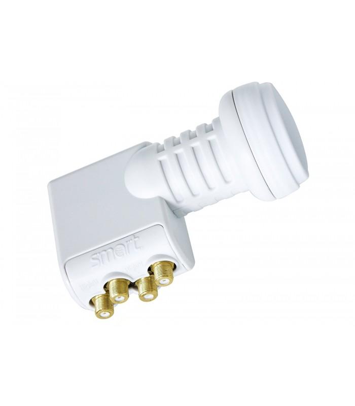 SMART TITANIUM Gold Quattro-LNB, 0,1dB, FULL HDTV/UHD capable