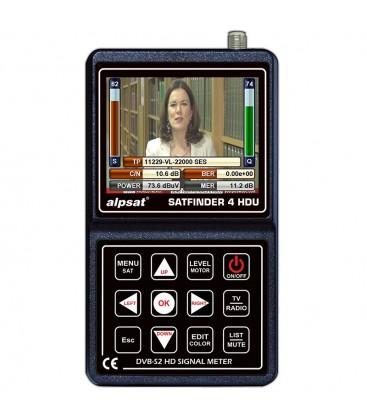 ALPSAT Satfinder 4HD ULTRA DVB-S/S2  und KU/KA/C-BAND Funktion Unicabe I+II