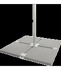 4 Platten Balkon Ständer Herkules, feuerverzinkt, für 90 cm Spiegel