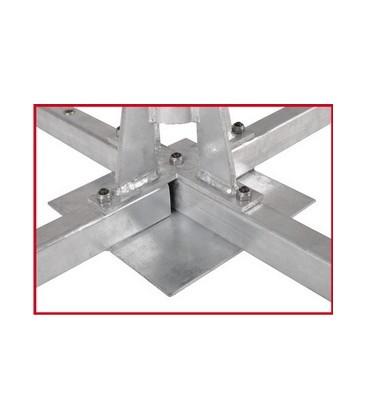 8 Platten Balkon Ständer XL, feuerverzinkt, 1,2 m