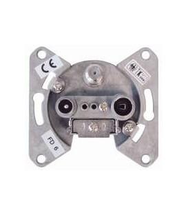 3 Output end wall socket 1dB/75Ohm SAT/TV/RADIO 5-2400MHz
