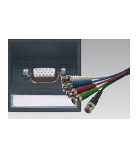 VGA 15-polig HDD Buchse auf 5x BNC RGB HV