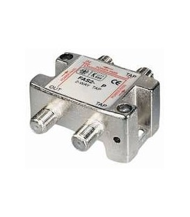 2-way Tap 12dB F-jack DC-pass at all ports
