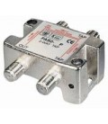 2-way Tap 12dB F-jack DC-pass at one port